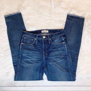 [Madewell] Raw Hem Slim Straight Leg Jeans